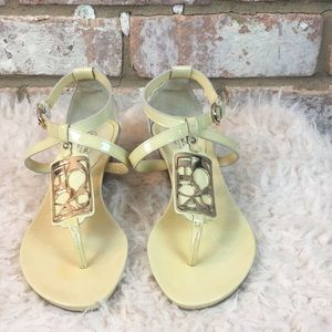 Yellow Coach Sandals